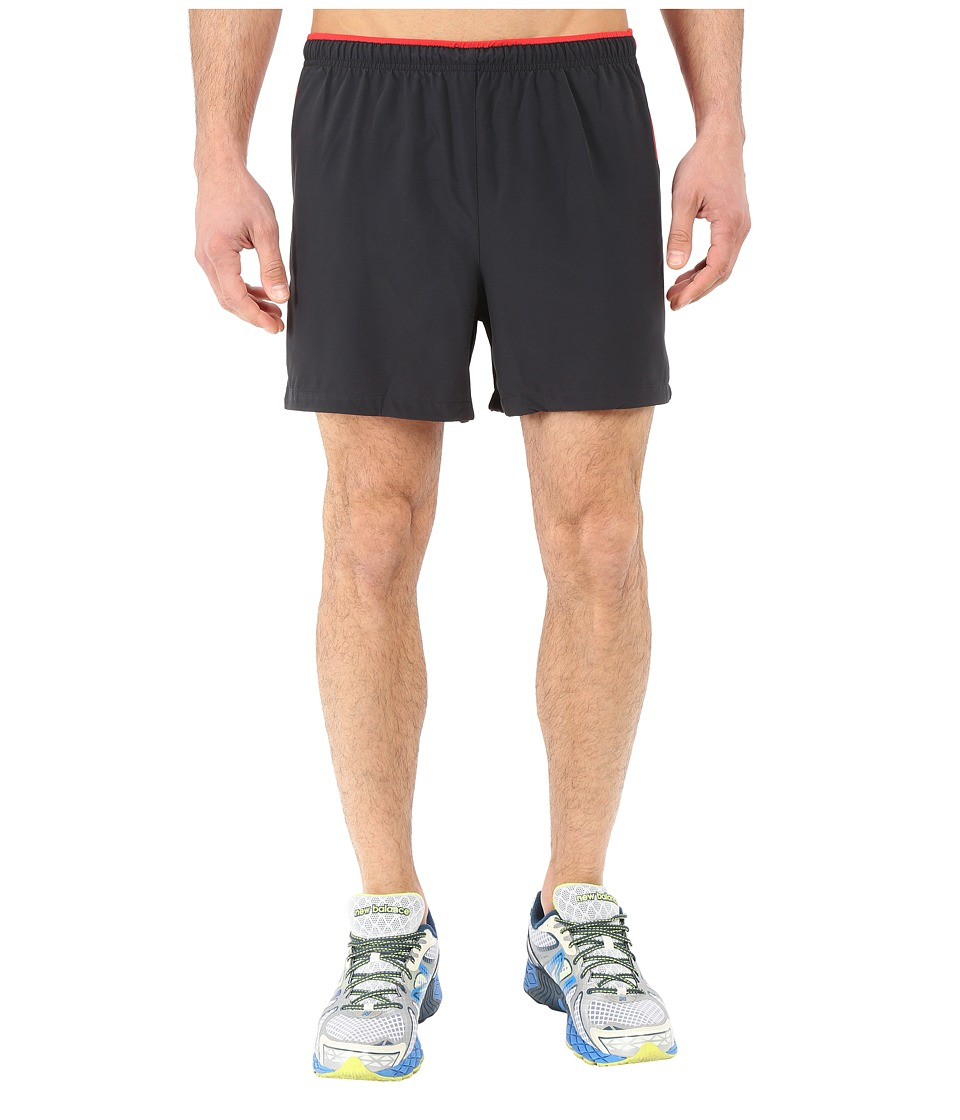 New Balance - Impact 5 Track Short (Black Multi/Chrome Red) Men's Shorts