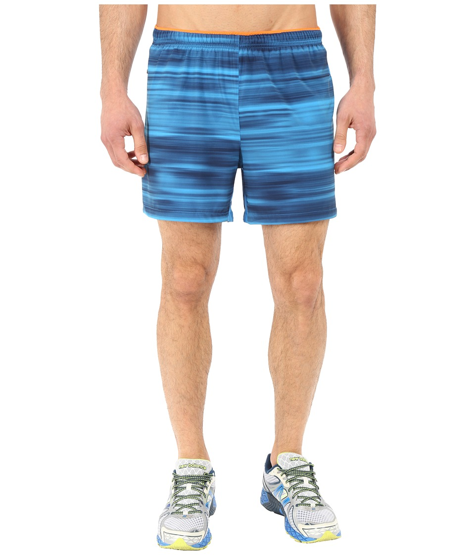 New Balance - Impact 5 Track Short (Sonar/Abyss Graphic) Men's Shorts