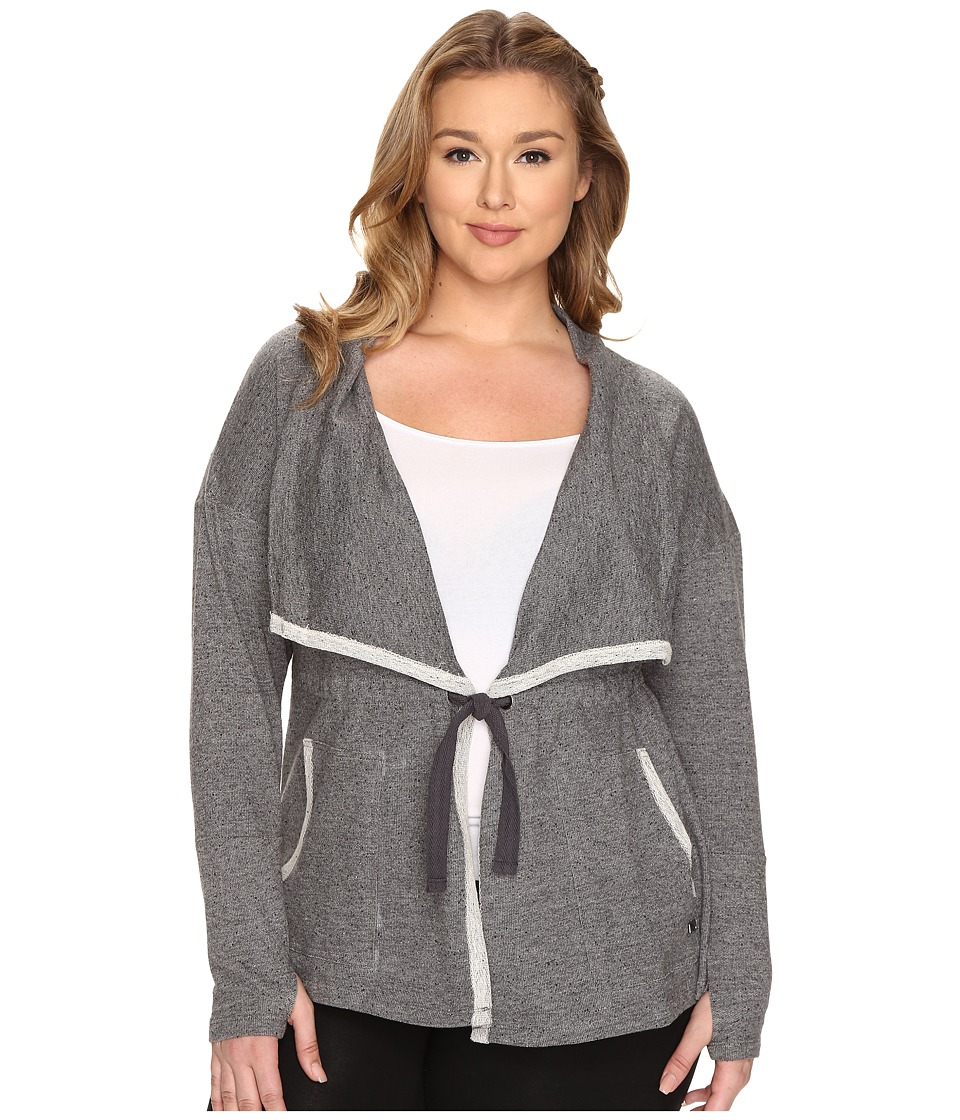Marika Curves - Plus Size Leanne Cardigan (Nine Iron) Women's Sweater