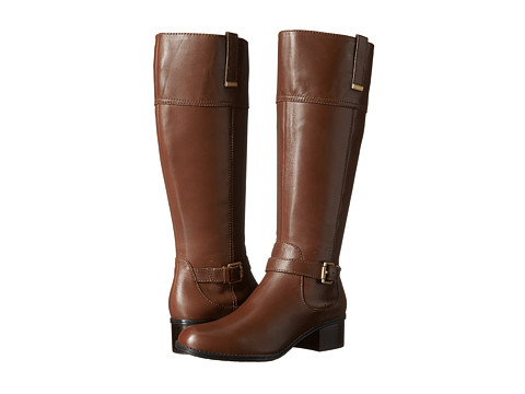 Bandolino - Carllow Wide Calf (Brown/Brown Leather) Women