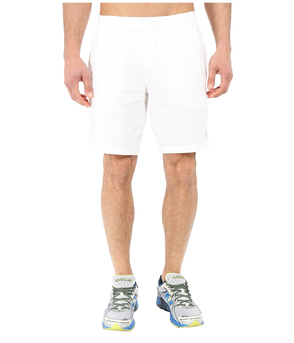 New Balance - Tournament 9 Shorts (White) Men's Shorts