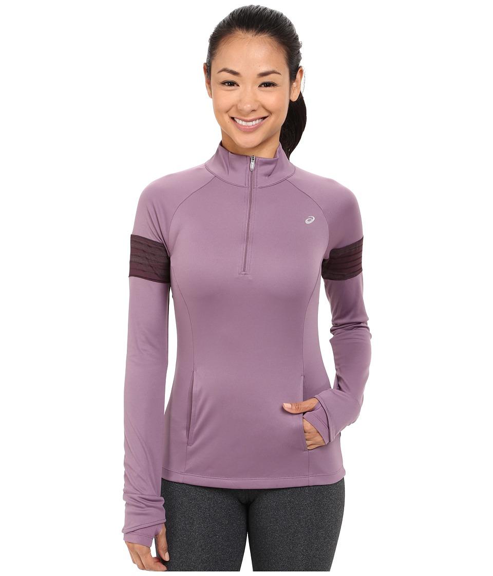 ASICS - Lite-Show Half Zip (Grapeade) Women's Long Sleeve Pullover