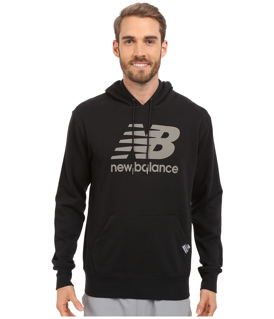 New Balance - Pullover Hoodie (Black) Men's Sweatshirt
