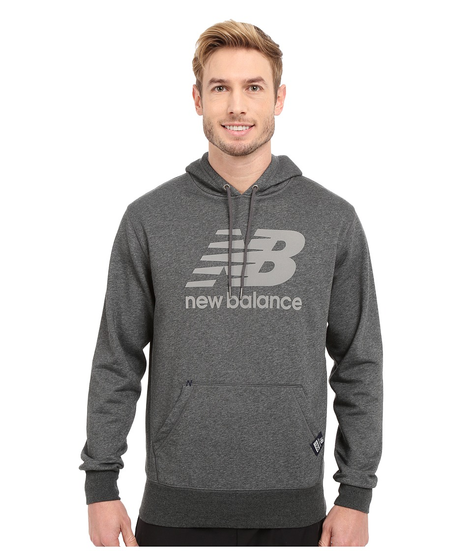 New Balance - Pullover Hoodie (Heather Charcoal) Men's Sweatshirt