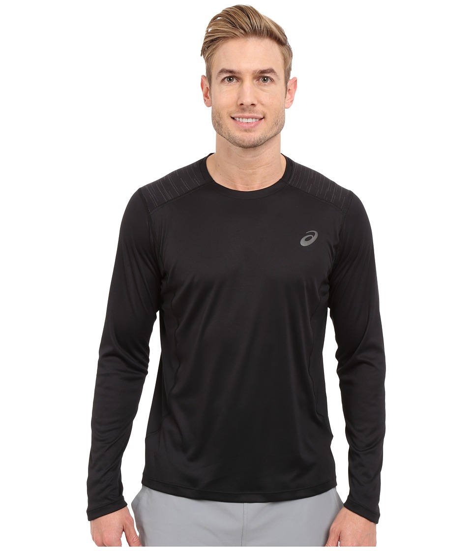 ASICS - Lite-Show Long Sleeve Top (Performance Black) Men's Long Sleeve Pullover