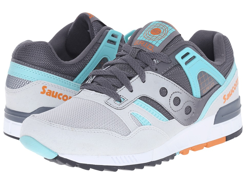 Saucony Originals - Grid SD (Grey/Teal) Men's Classic Shoes