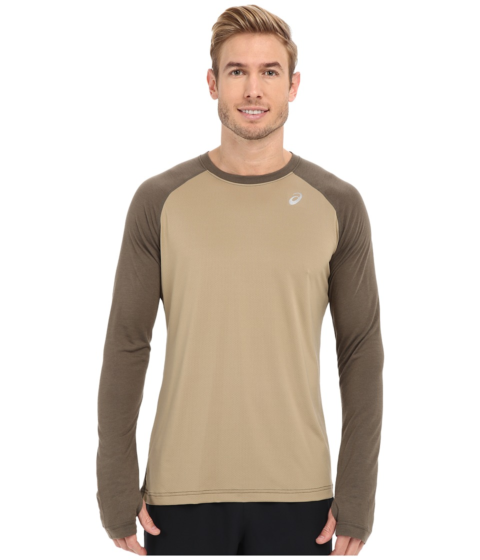 ASICS - ASX Dry Long Sleeve (Bark) Men's Long Sleeve Pullover