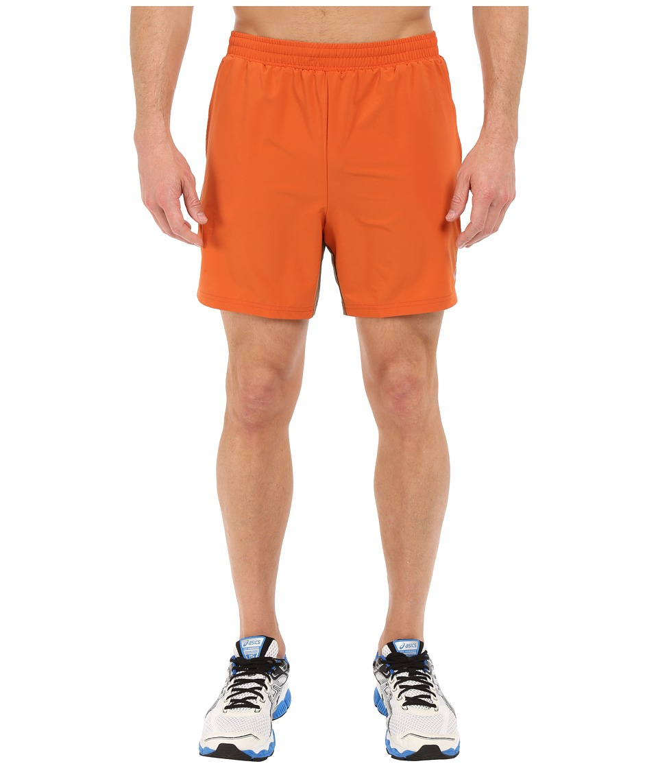 ASICS - 2-N-1 Shorts 6 (Rust) Men's Shorts