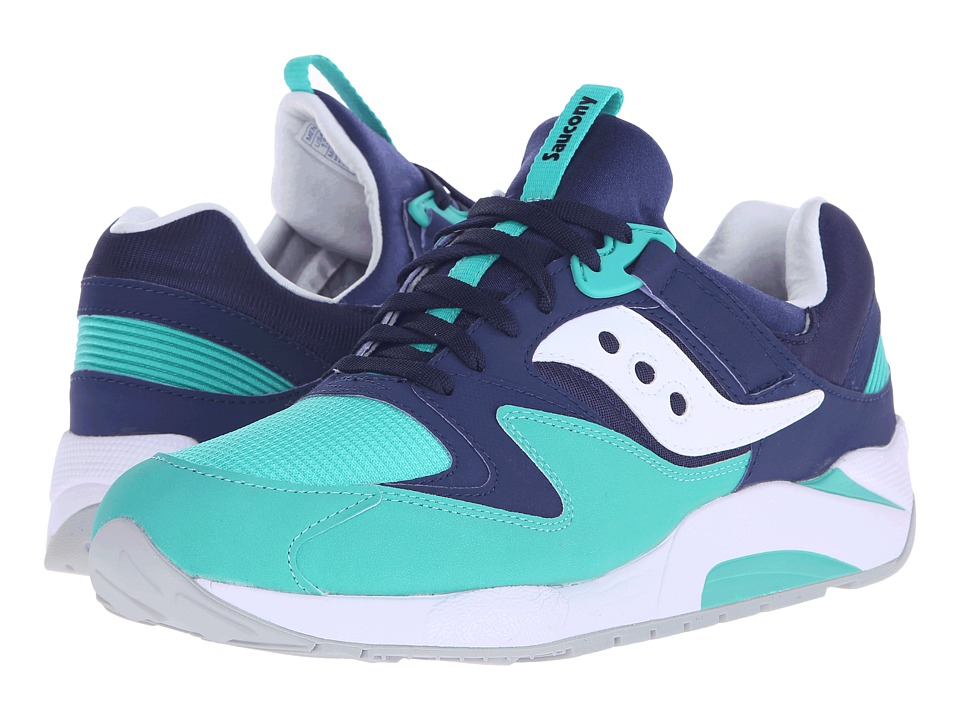 Saucony Originals - Grid 9000 (Navy/Green) Men's Classic Shoes