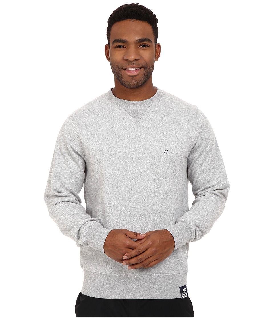 New Balance - Crew Neck Sweatshirt (Athletic Grey) Men's Sweatshirt