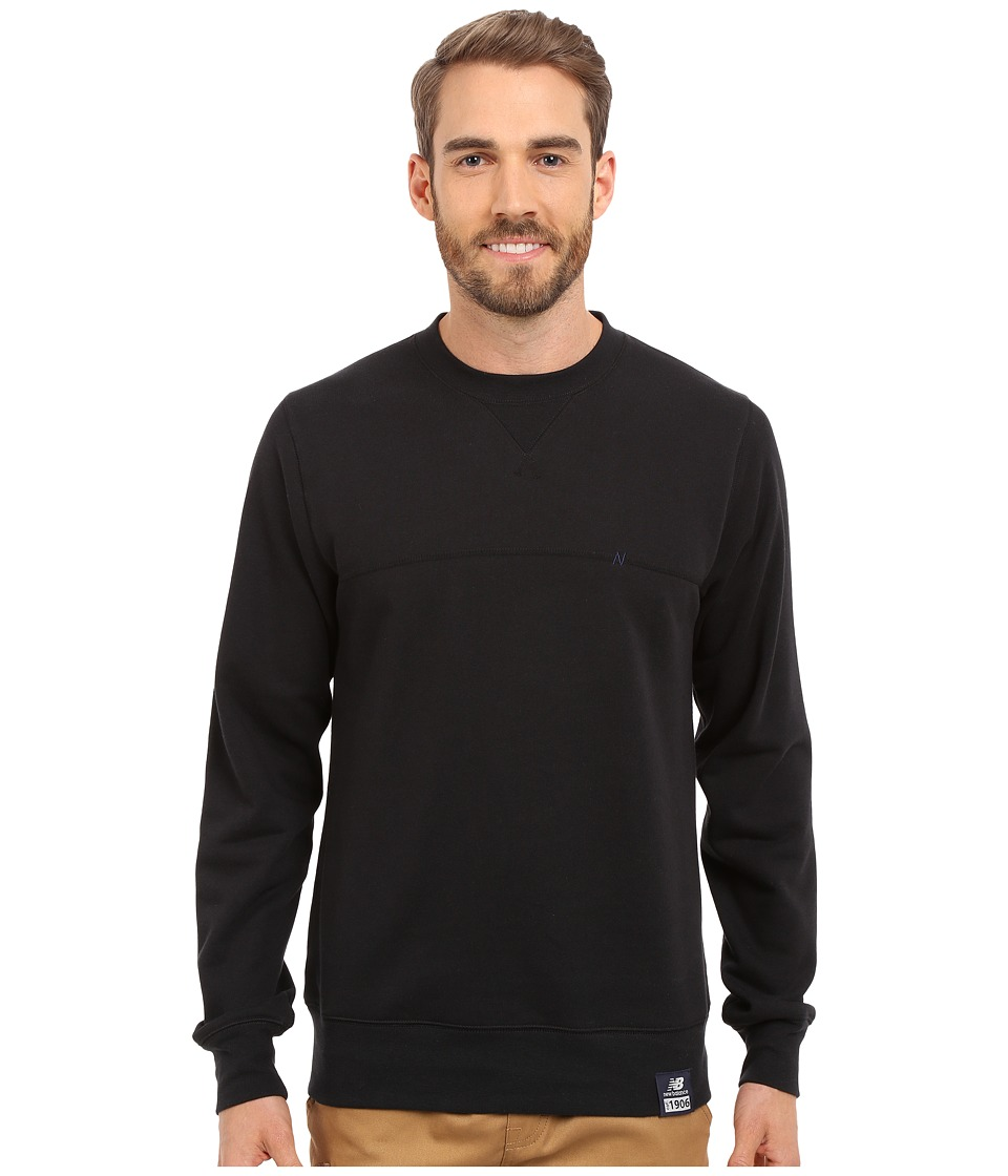 New Balance - Crew Neck Sweatshirt (Black) Men's Sweatshirt