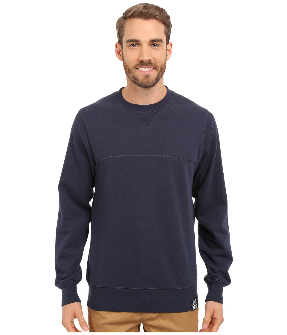 New Balance - Crew Neck Sweatshirt (Navy) Men's Sweatshirt