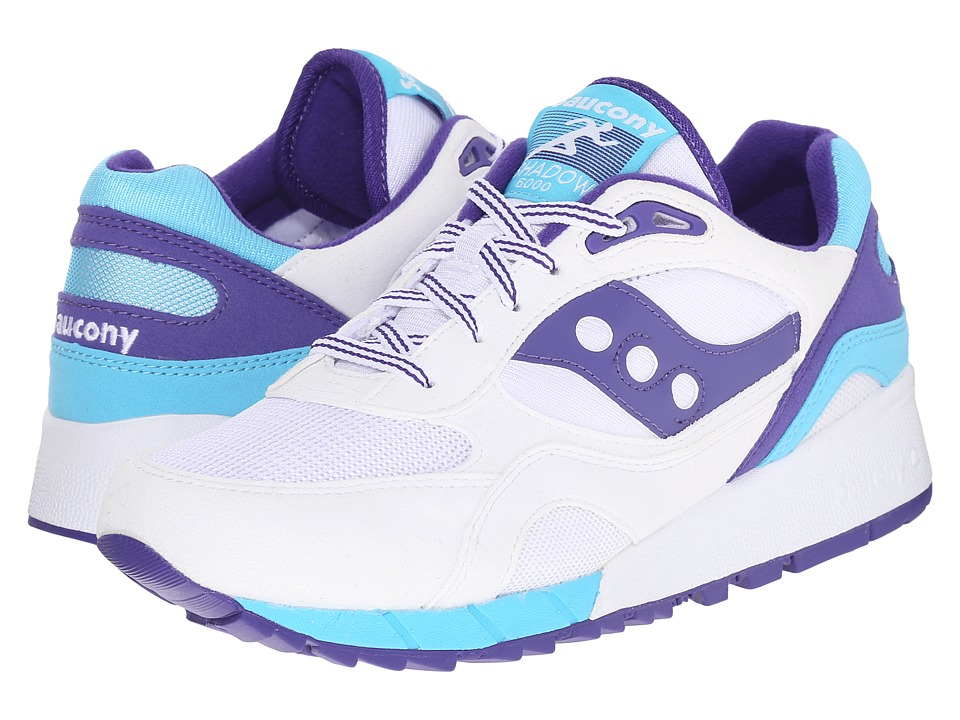 Saucony Originals - Shadow 6000 (White/Blue) Men's Classic Shoes