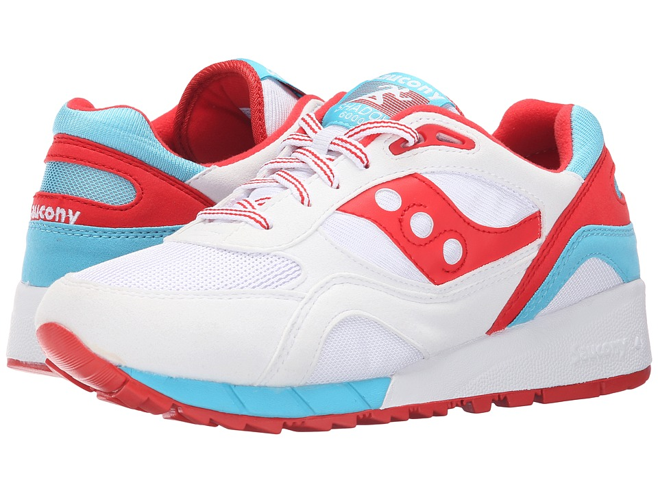 Saucony Originals - Shadow 6000 (White/Red) Men's Classic Shoes
