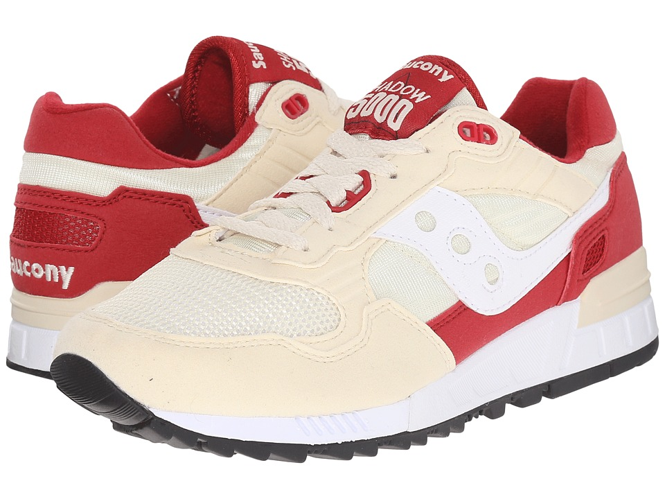 Saucony Originals - Shadow 5000 (Cream/Red) Men's Classic Shoes