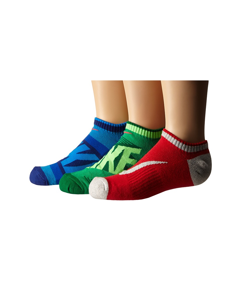 Nike Kids - Graphic Cotton Cushion Low Cut 3-Pair Pack (Toddler/Little Kid/Big Kid) (Multicolor) Boys Shoes