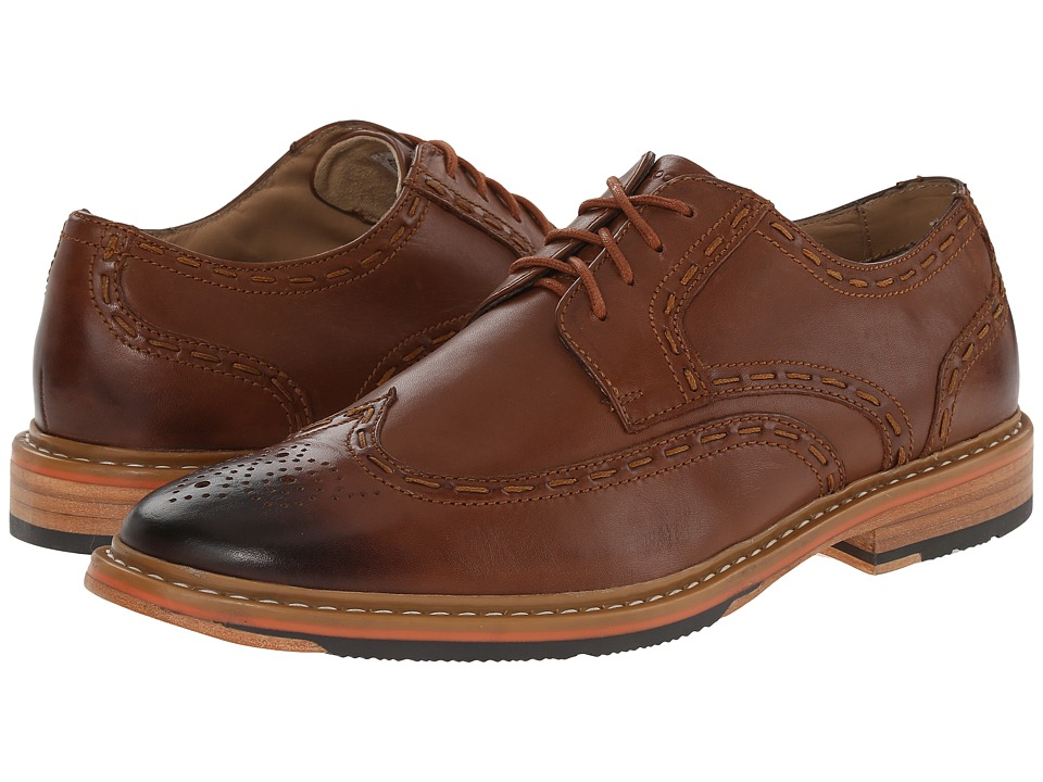 Rockport - Parker Hill Wingtip Oxford (British Tan) Men's Shoes
