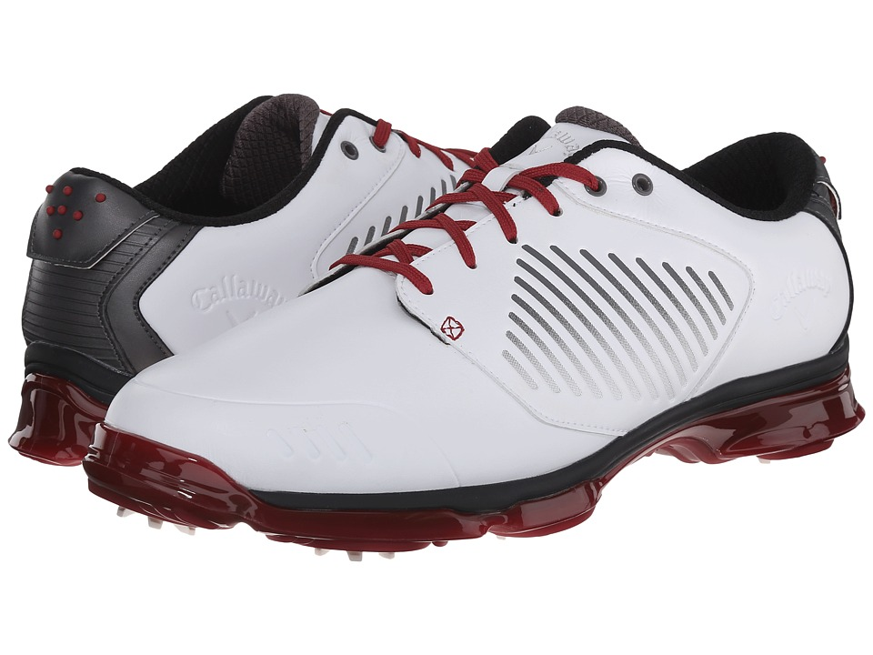 Callaway - X Nitro (White/Grey/Crimson) Men's Golf Shoes