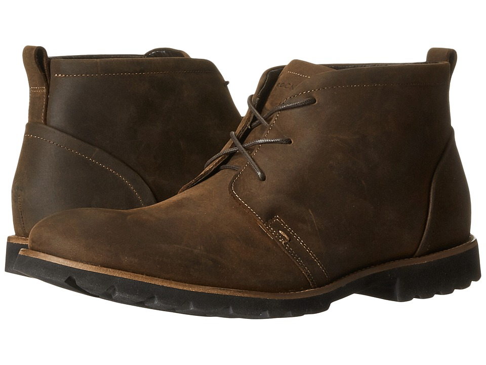 Rockport - Charson (Brown Oiled Leather) Men's Lace-up Boots