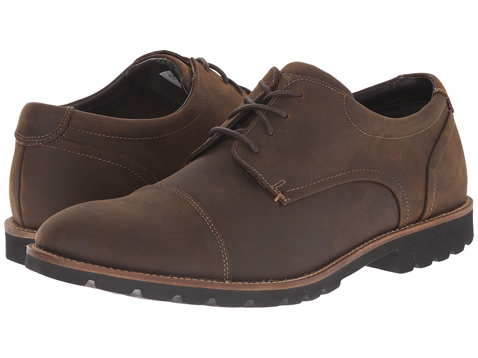 Rockport Sharp Ready Channer (Brown Oiled Leather) Men