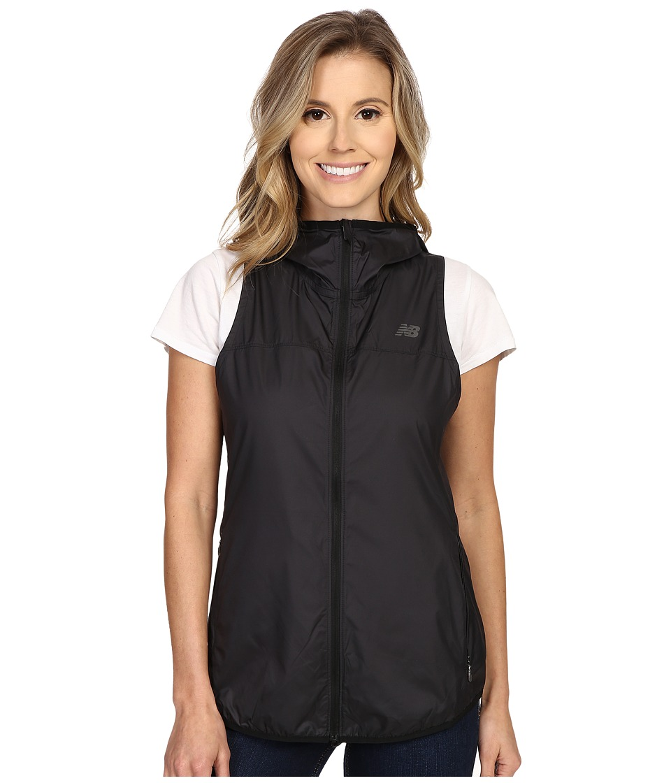 New Balance - Windcheater Vest (Black/Dragon Fly) Women's Vest