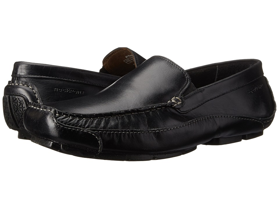 Rockport - Luxury Cruise Venetian (Black) Men's Shoes