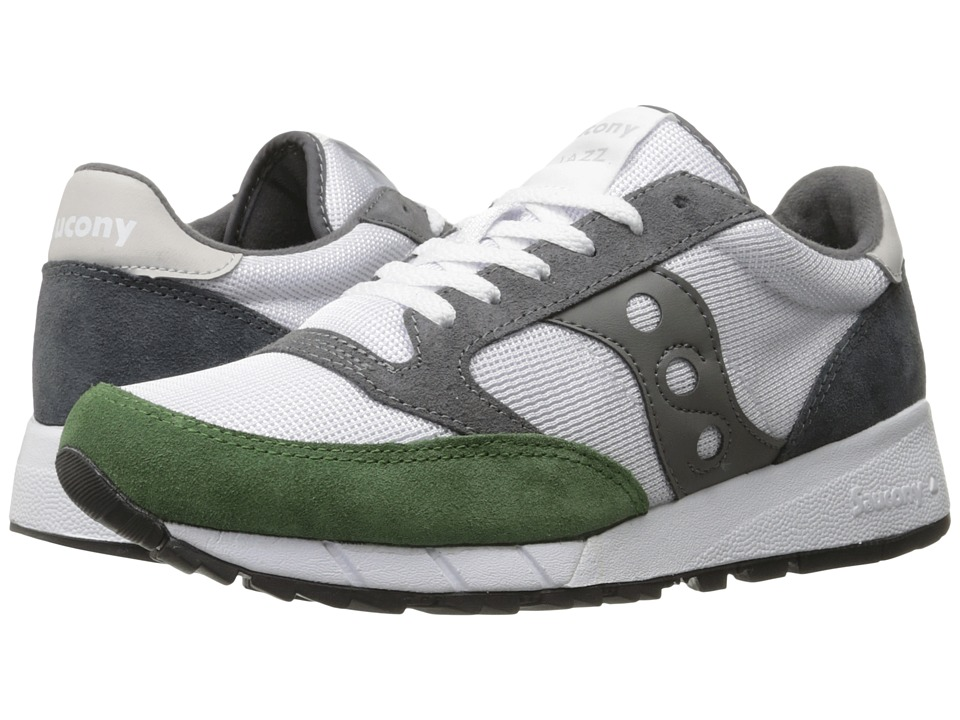 Saucony Originals - JAZZ 91 (White/Green/Charcoal) Men's Classic Shoes