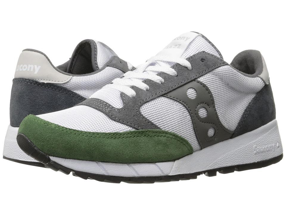 Saucony Originals - JAZZ 91 (White/Green/Charcoal) Men's Classic Shoes