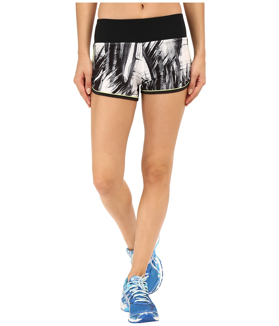 ASICS - Everysport Shorts (Black/White Glitch Print) Women's Shorts