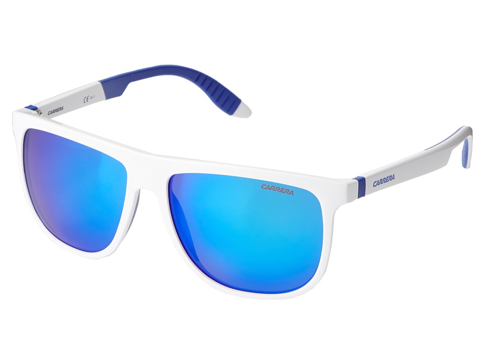 Carrera - Carrera 5003/SP/S (White Blue/Mirror Blue) Sport Sunglasses