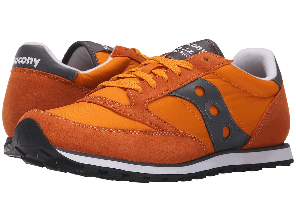 Saucony Originals - Jazz Low Pro (Orange/Grey) Men's Classic Shoes