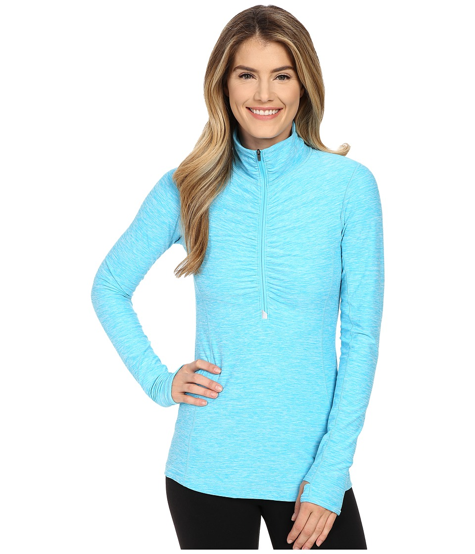 New Balance - In Transit 1/2 Zip Top (Bayside Heather) Women's Long Sleeve Pullover