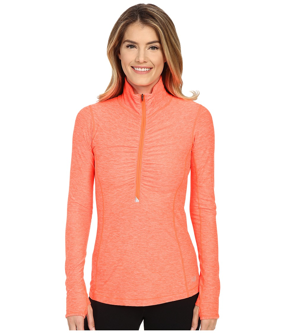 New Balance - In Transit 1/2 Zip Top (Dragon Fly Heather) Women's Long Sleeve Pullover