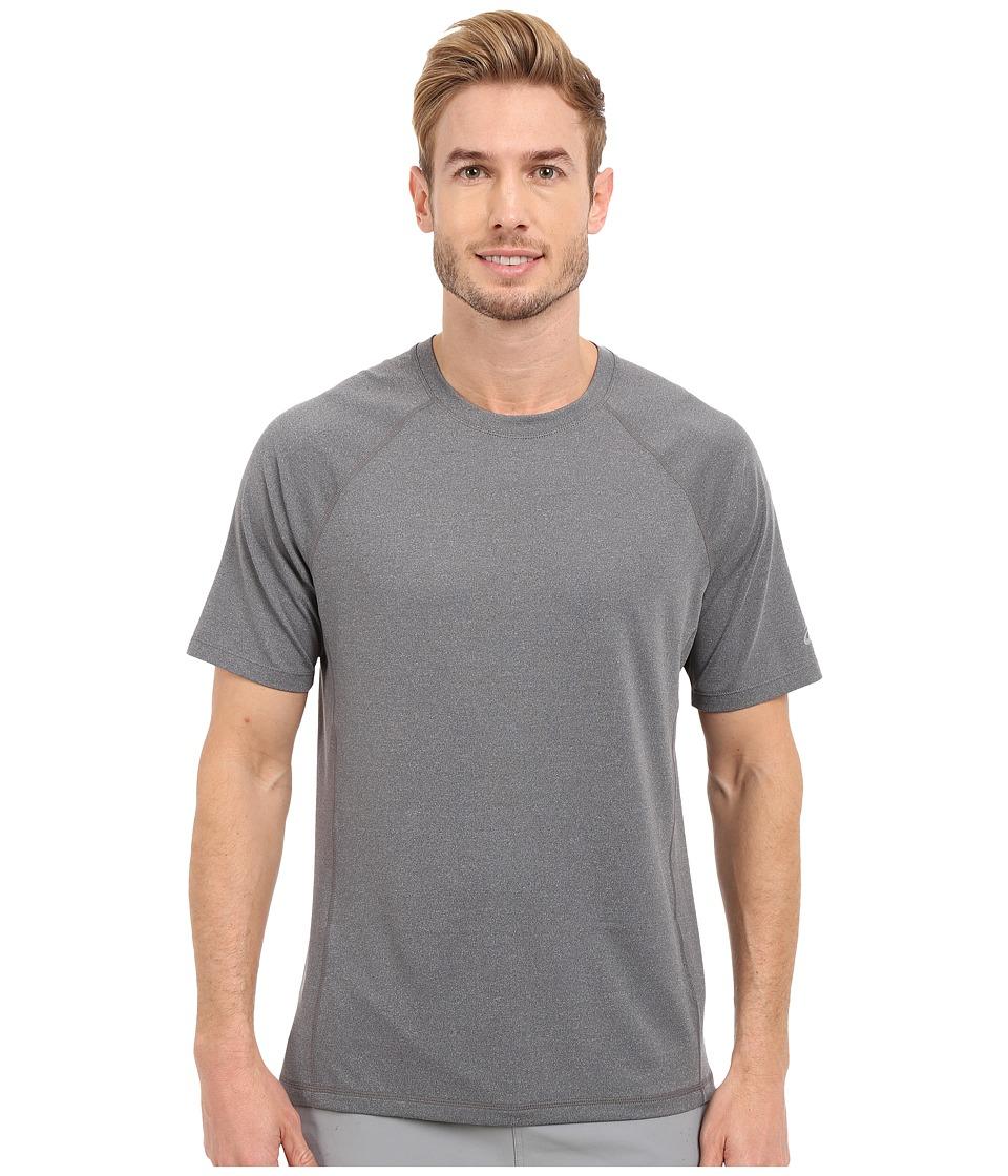 ASICS - Everyday Short Sleeve Shirt (Dark Grey) Men's Short Sleeve Pullover