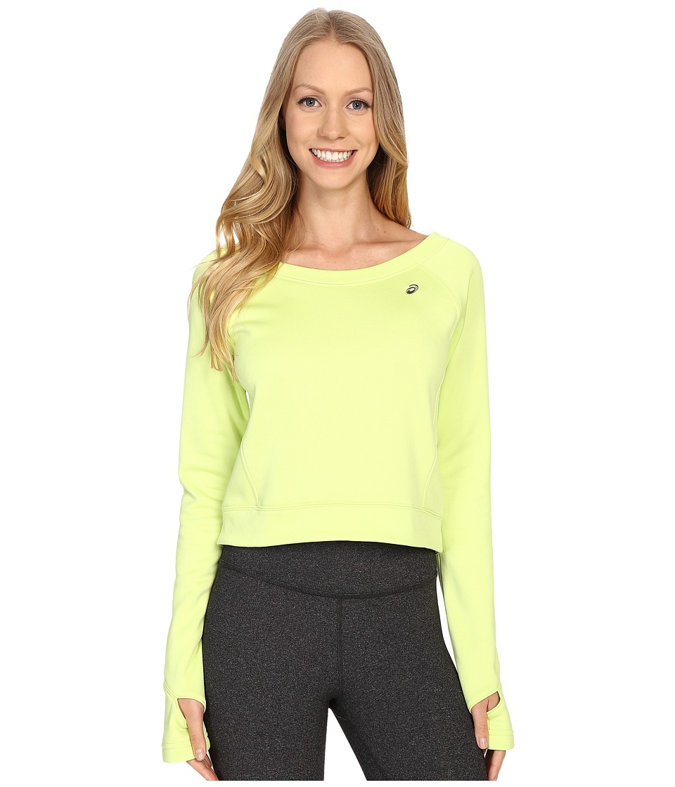 ASICS - Crop Fleece Long Sleeve Top (Pistachio) Women's Long Sleeve Pullover