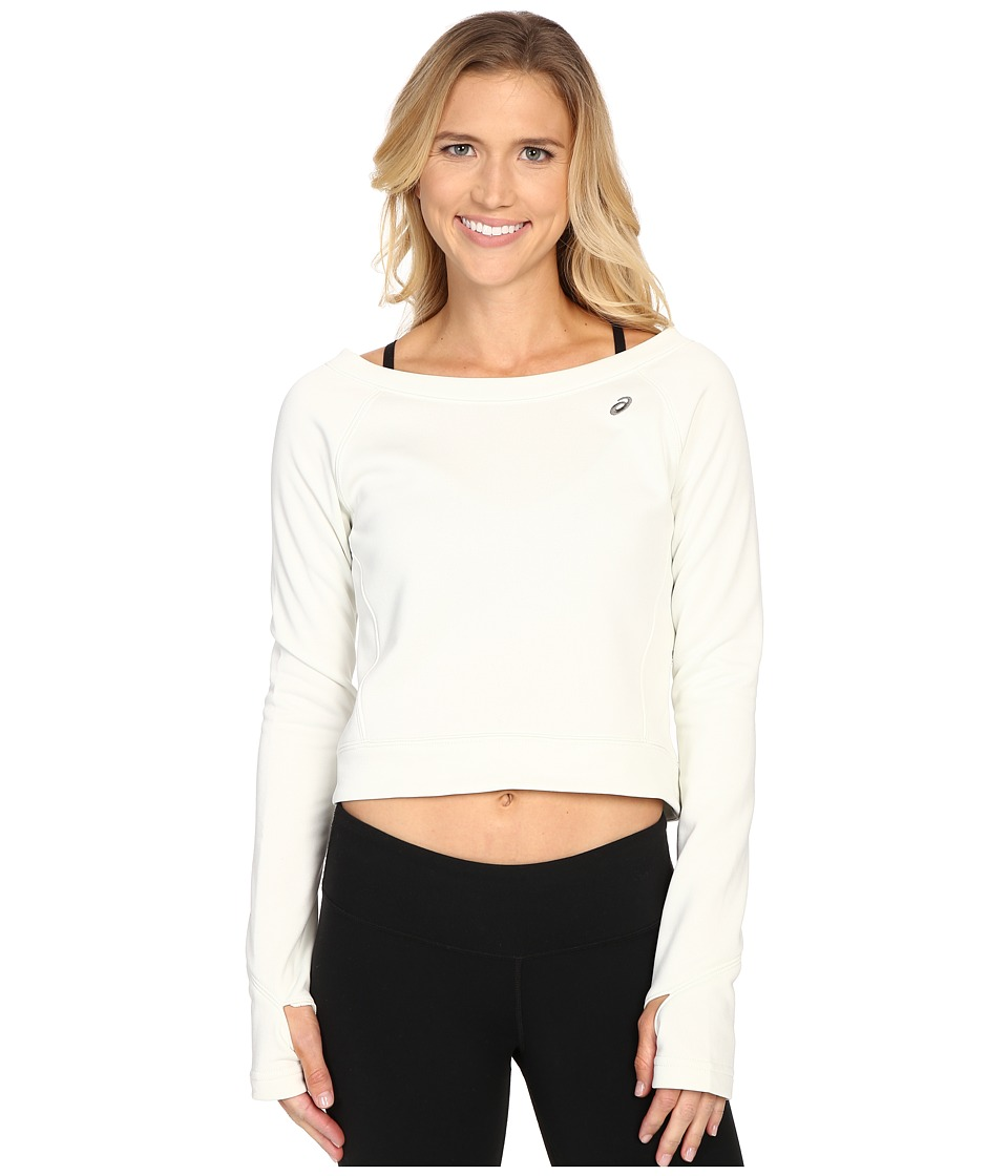 ASICS - Crop Fleece Long Sleeve Top (Icicle) Women's Long Sleeve Pullover