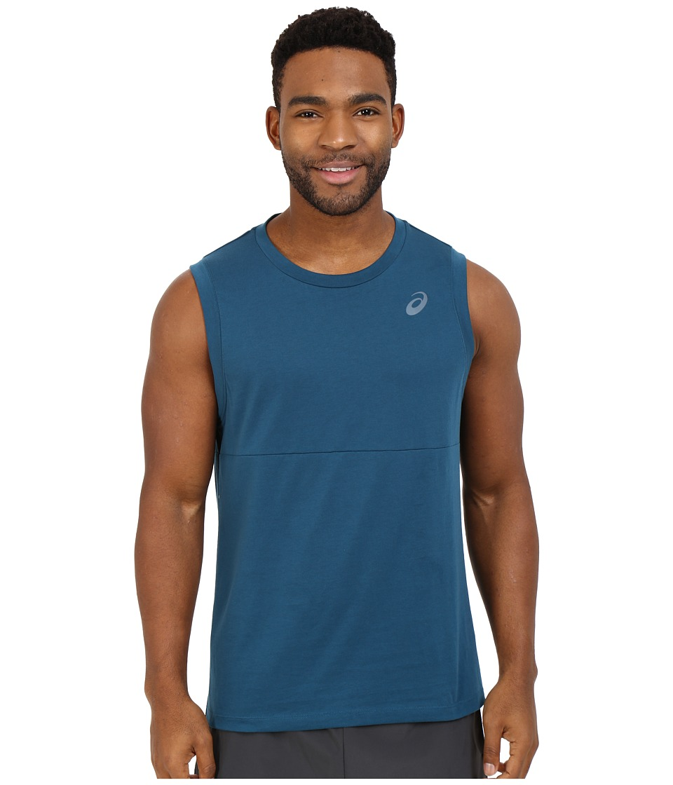 ASICS - Block Tank Top (Ink Blue) Men's Sleeveless