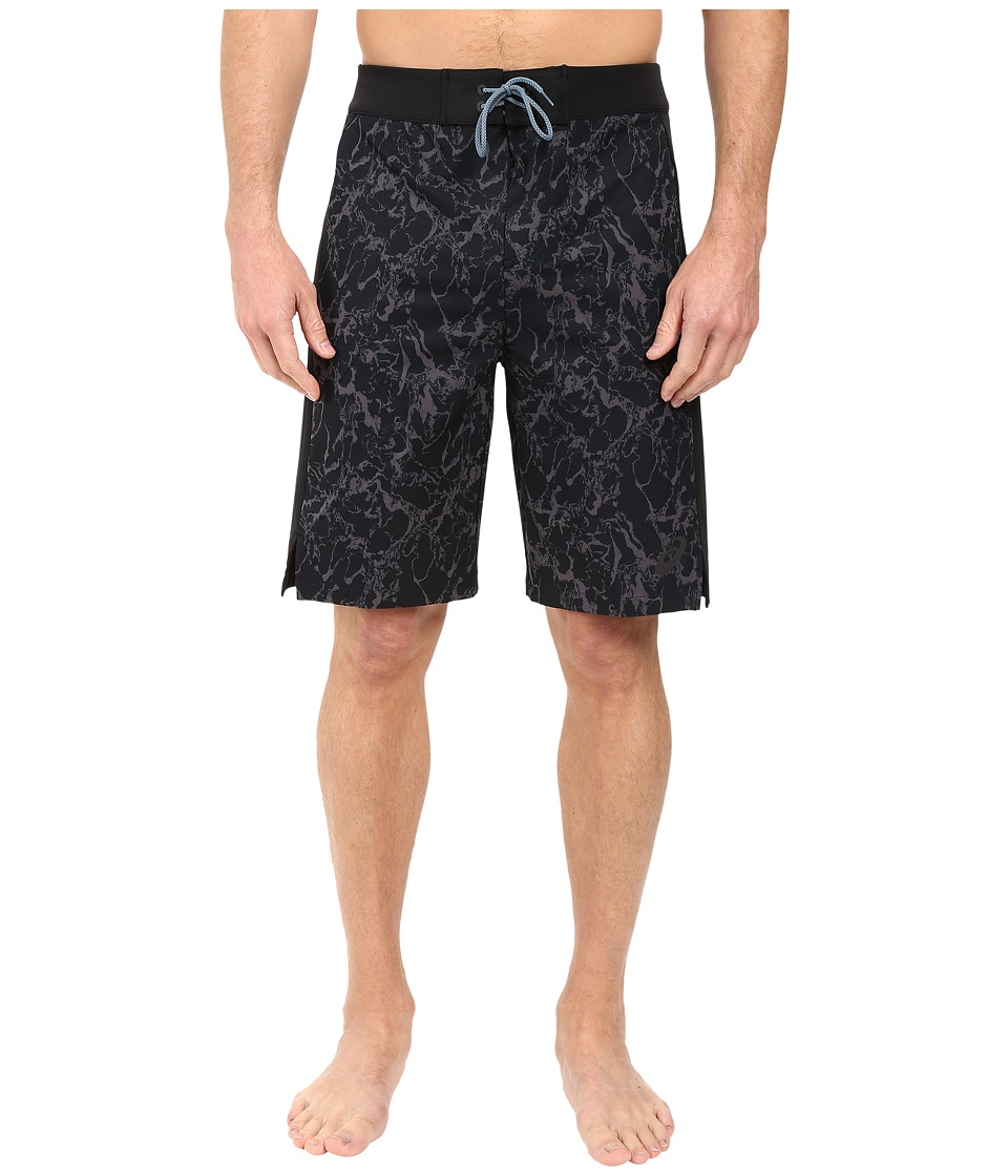ASICS - Boardshorts 10in (Black Marble Print) Men's Swimwear