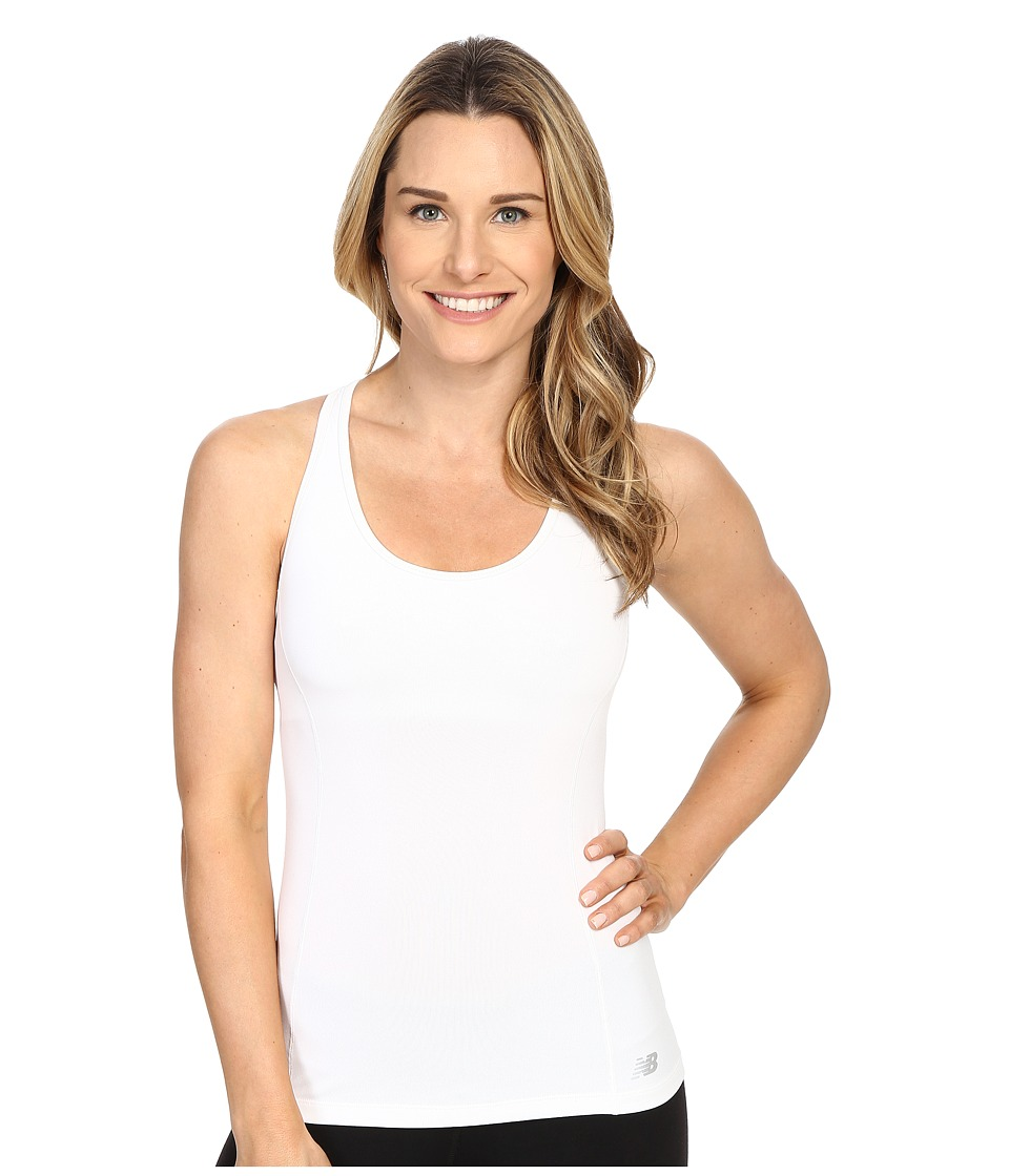 New Balance - Get Back Racerback (White) Women's Sleeveless