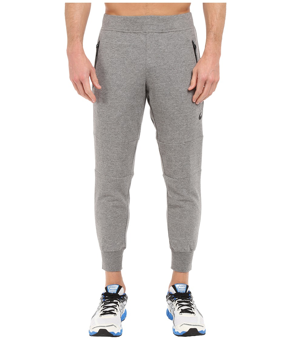 ASICS - Terry Cuffed Pants (Heather Grey) Men's Workout