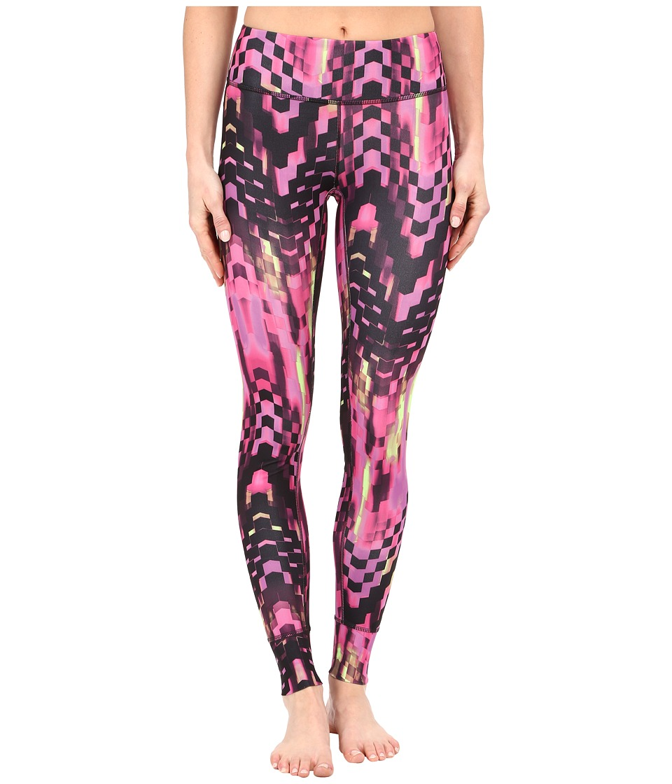 ASICS - Performance Run Printed Tights (Eggplant Checkered Print) Women's Casual Pants