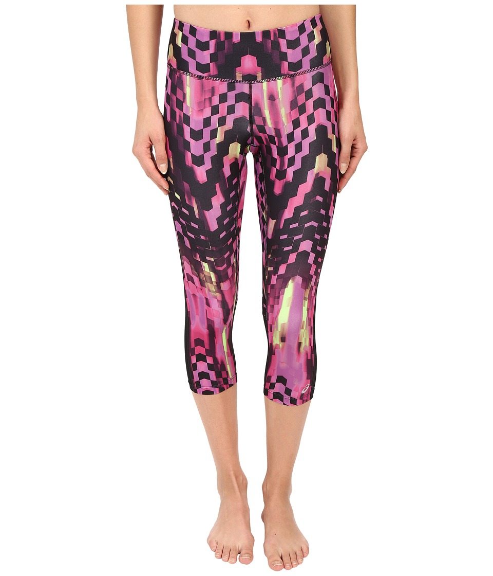 ASICS Performance Run Printed Capris (Eggplant Checkered Print) Women