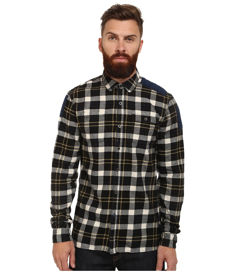 Scotch & Soda - Brushed Flannel Workwear Shirt (Multi) Men's Long Sleeve Button Up