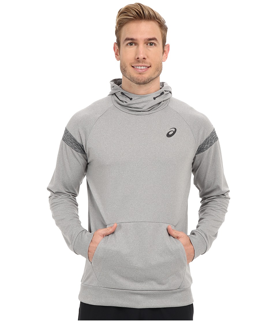 ASICS - Sanded Hoodie (Heather Grey) Men's Sweatshirt