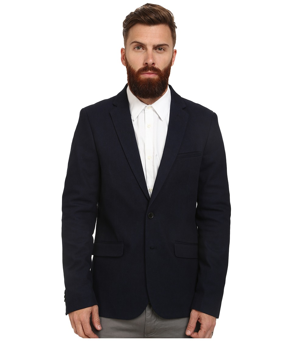 Scotch & Soda - Simple Indigo Blazer in Rich Twill (Indigo) Men's Jacket