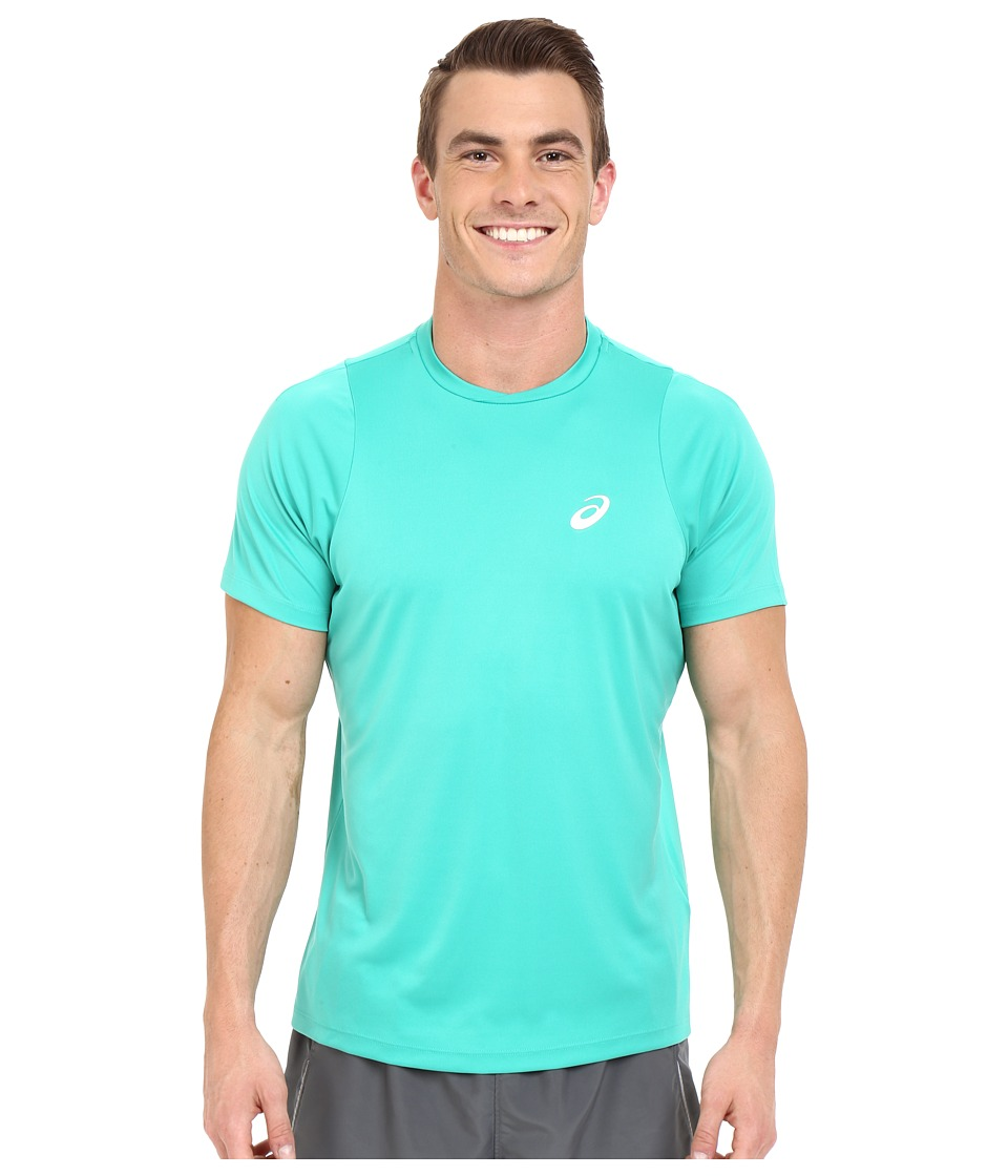 ASICS - Club Short Sleeve Top (Peacock Green) Men's Short Sleeve Pullover