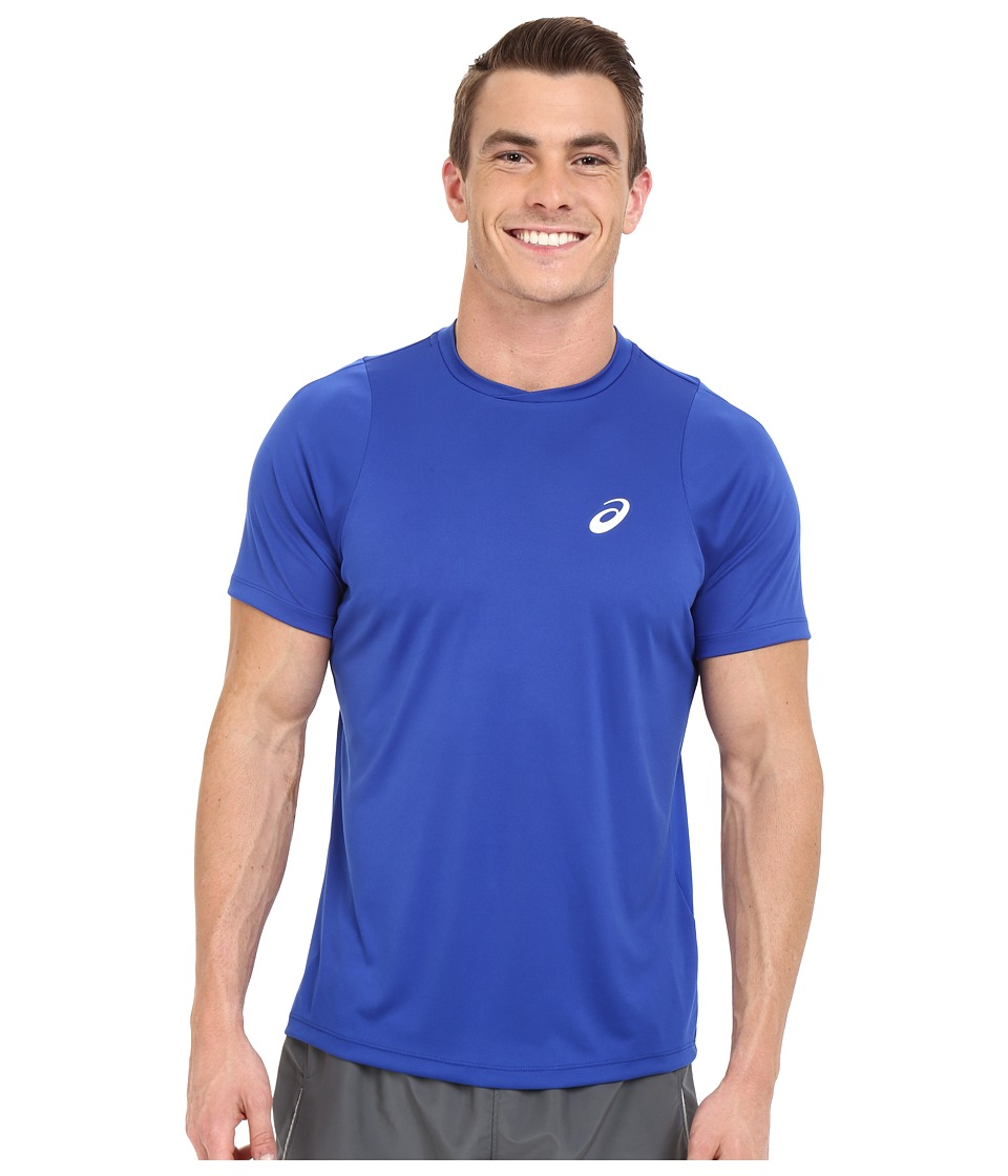 ASICS - Club Short Sleeve Top (Airforce Blue) Men's Short Sleeve Pullover