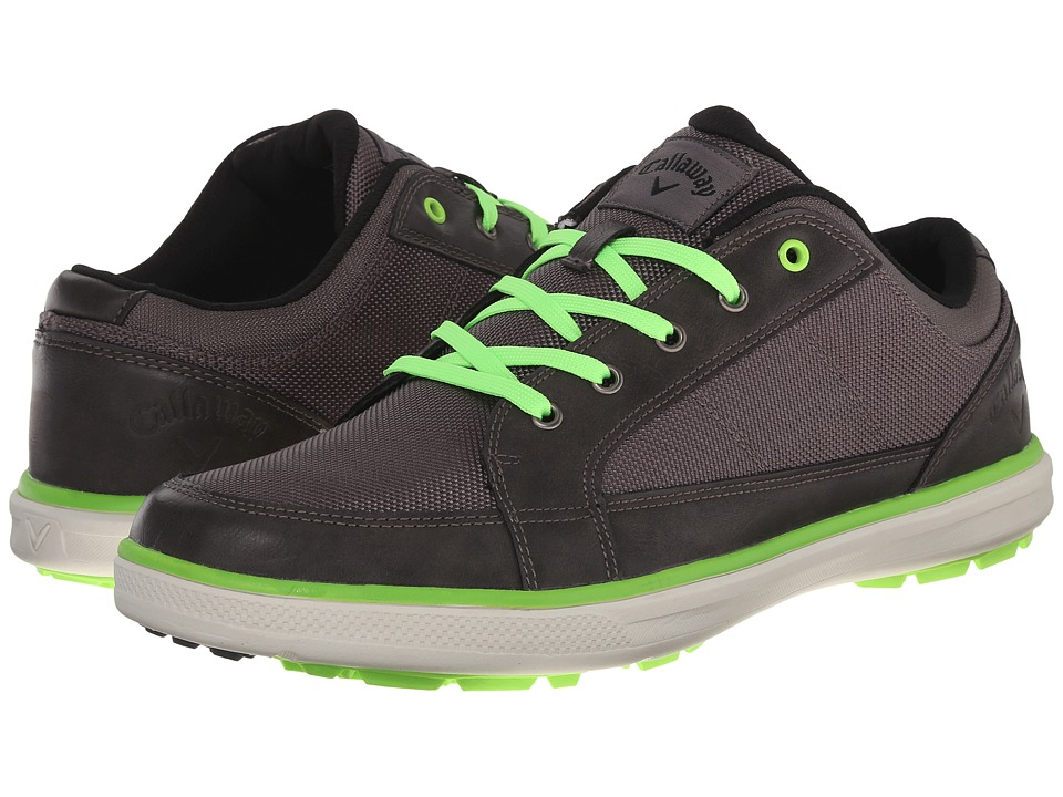 Callaway - Del Mar Ballistic (Grey/Grey/Lime) Men's Golf Shoes