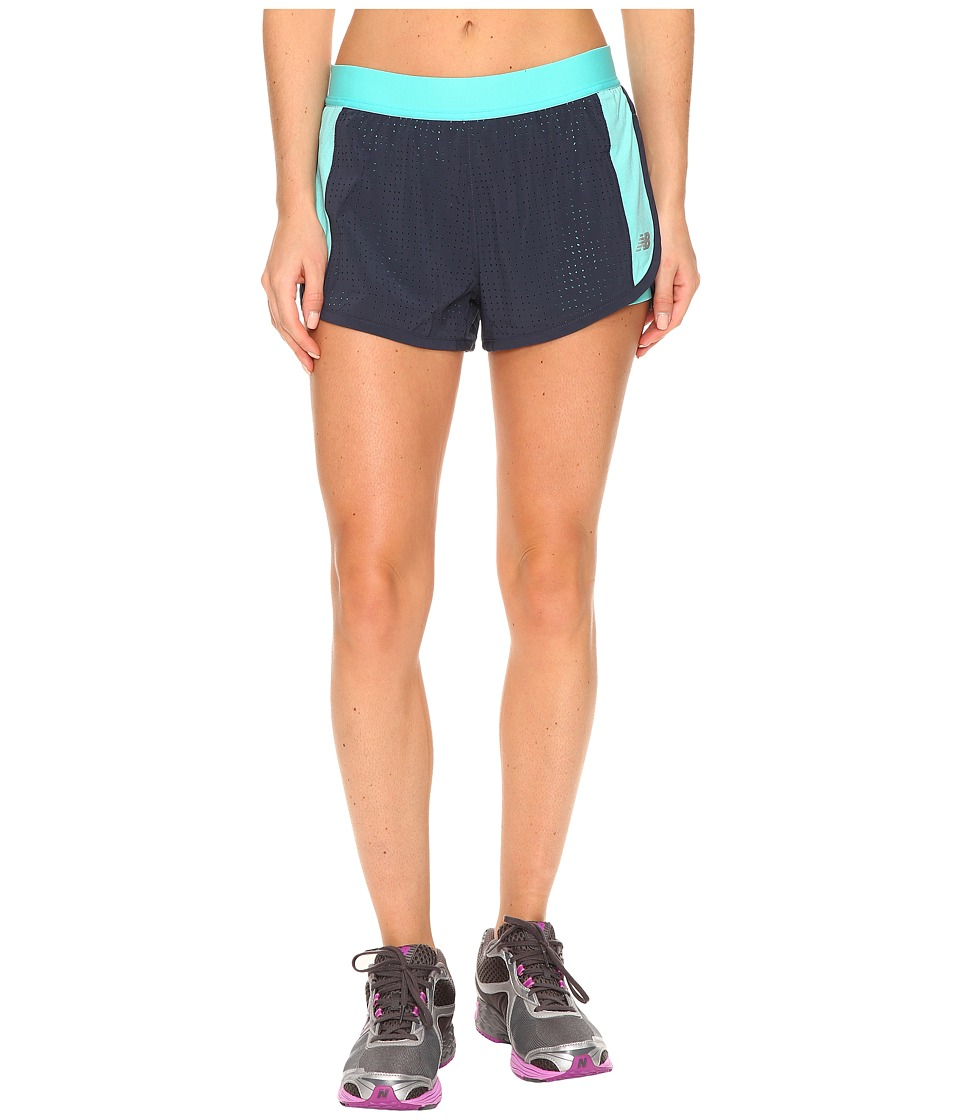 New Balance - Petal Performance Shorts (Reef/Thunder) Women's Shorts