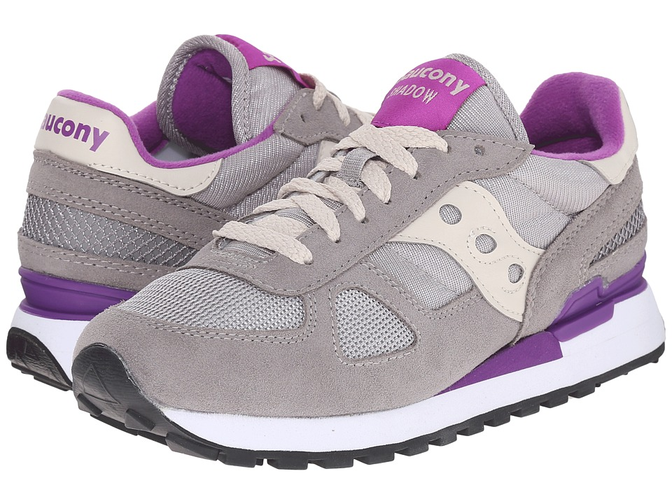 Saucony Originals - Shadow Original (Light Grey/Purple) Women's Classic Shoes